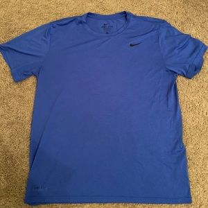 Blue men's Nike workout shirt